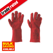 Keep Safe Welders Gauntlets Red Large